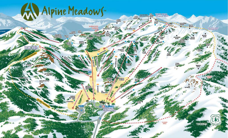 alpine meadows ski resort lake tahoe map image