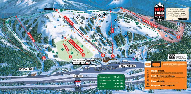 boreal ski resort lake tahoe map image
