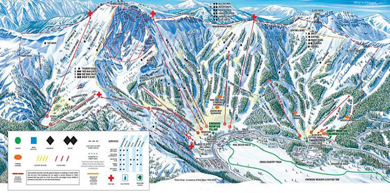 kirkwood mountain resort lake tahoe map image