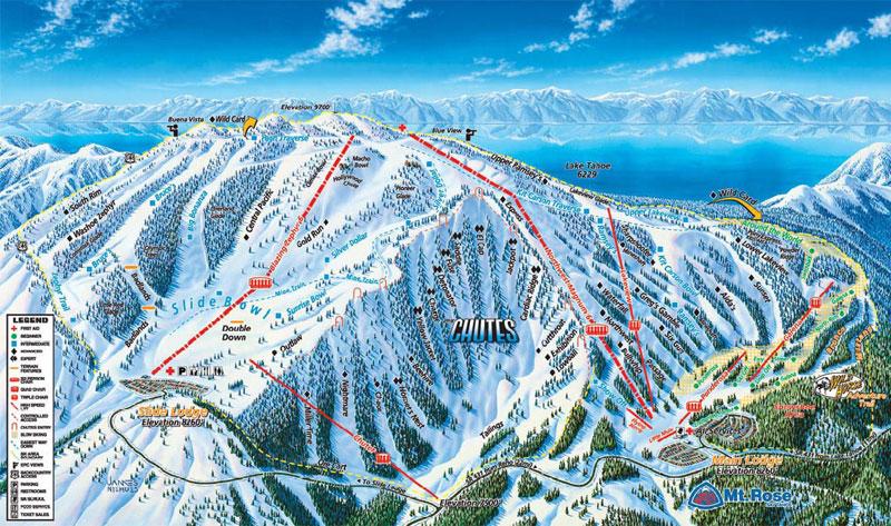mt rose ski resort lake tahoe map image