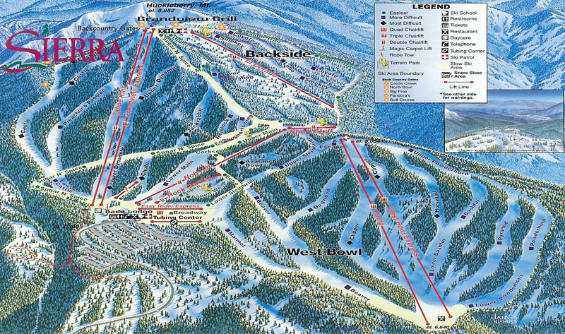 sierra at tahoe ski resort lake tahoe map image