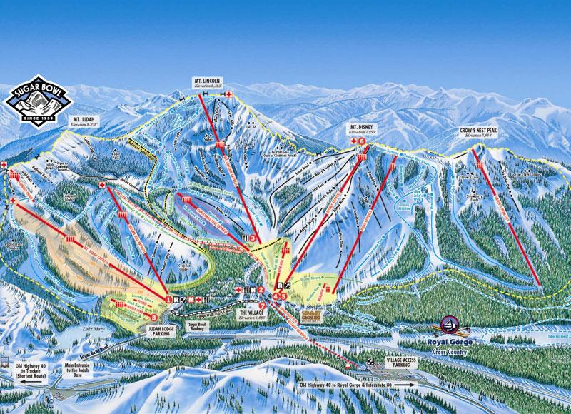 sugar bowl ski resort lake tahoe map image